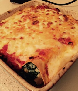spinach and courgette cannelloni